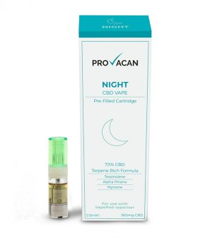 Night Terpene CBD VapePod with 72% CBD