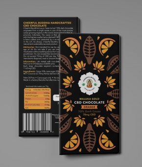 Bean to Bar CBD Infused Orange Dark Chocolate
